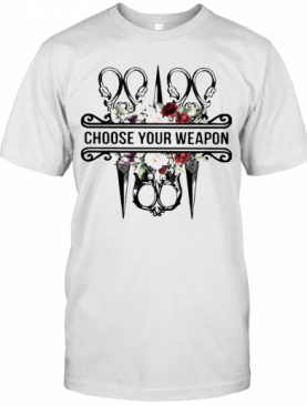 Sewing Choose Your Weapon Flowers T-Shirt