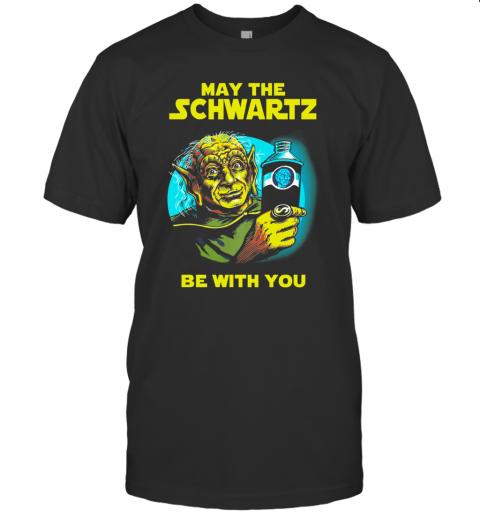 Star Wars Master Yoda May The Schwartz Be With You T Shirt Classic Mens T shirt