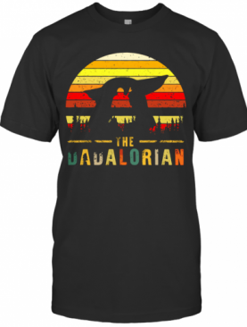 The Dadalorian Definition Father'S Day Vintage Sunset T-Shirt