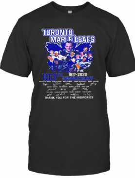Toronto Maple Leafs 103Th Anniversary 1917 2020 Signature T-Shirt