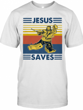 Vintage Hockey Jesus Save T-Shirt