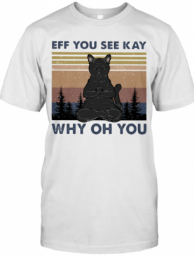Yoga Cat Eff You See Kay Why Oh You Vintage T-Shirt