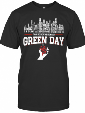 21 Guns Holiday Thank You For The Memories Green Day T-Shirt