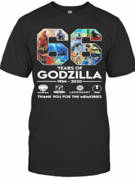 66 Years Of Godzilla 1954 2020 Thank You For The Memories T-Shirt