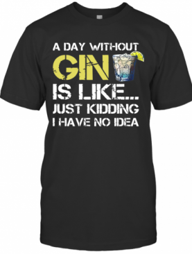 A Day Without Gin Is Like Just Kidding I Have No Idea T-Shirt