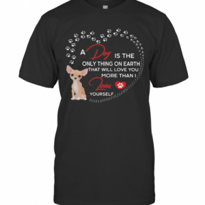 A Dog Is The Only Thing On Earth That Will Love You More Than I Loves Chihuahua T-Shirt Classic Men's T-shirt