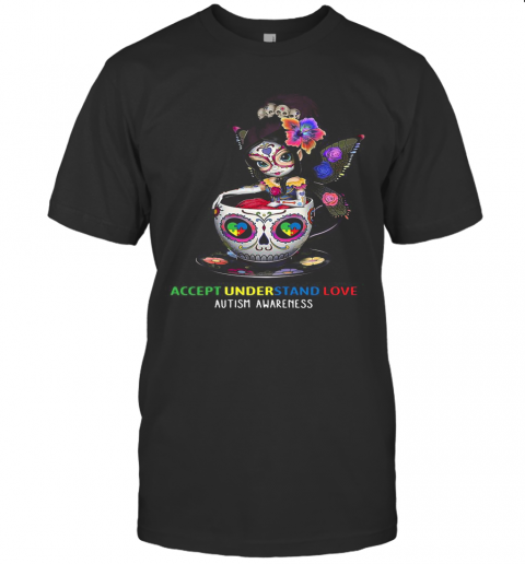 Accept Understand Love Autism Awareness Cup Girl T-Shirt Classic Men's T-shirt