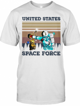 Aliens And Astronauts United States Space Force Vintage Retro T-Shirt