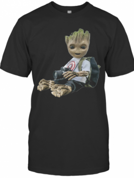 Baby Groot Photography Captain America T-Shirt