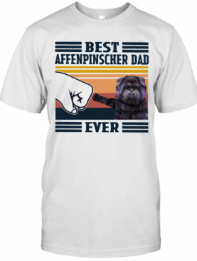 Best Affenpinscher Dad Ever Vintage T-Shirt