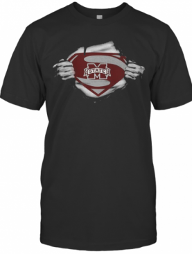 Blood Insides Superman Michigan State Spartans Football T-Shirt