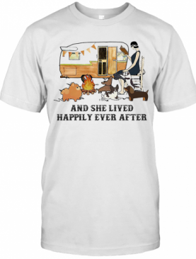 Camping Fire And She Lived Happily Ever After T-Shirt