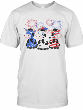 Cows American Flag 4Th Of July T-Shirt