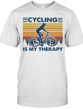 Cycling Is My Therapy Vintage Retro T-Shirt