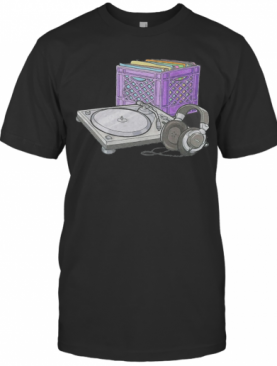 DJ Turntables Disk And Headphone T-Shirt