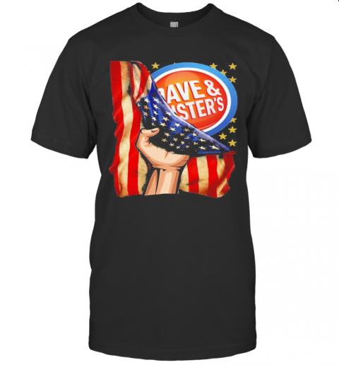 Dave And Busters American Flag Independence Day T-Shirt Classic Men's T-shirt