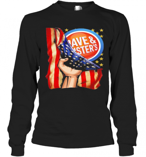 Dave And Busters American Flag Independence Day T-Shirt Long Sleeved T-shirt