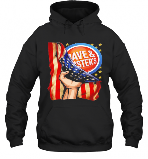Dave And Busters American Flag Independence Day T-Shirt Unisex Hoodie