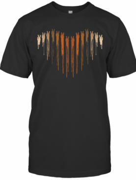 Different Skin Color Heart Hand T-Shirt