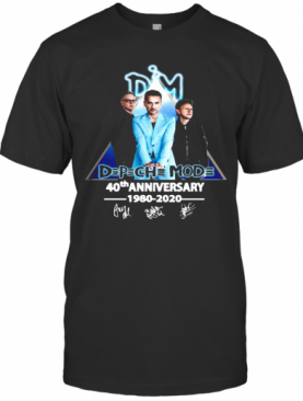 Dpch Mod 40Th Anniversary 1980 2020 Signature T-Shirt