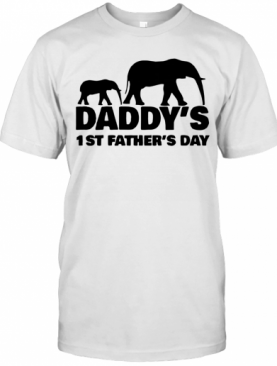 Elephant Father Daddy's 1St Father's Day T-Shirt