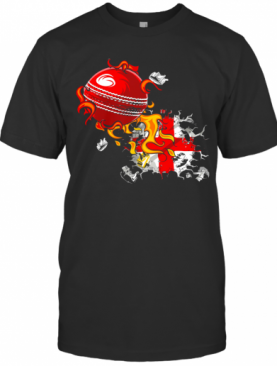 England Flag Rugby Fire T-Shirt