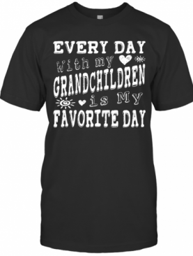 Every Day With My Grandchildren Is My Favorite Day Vintage T-Shirt