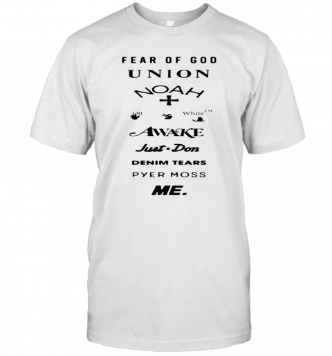 Fear Of God Union Noah White Awake Just Don Denim Tears Pyes Moss Me T Shirt Classic Mens T shirt