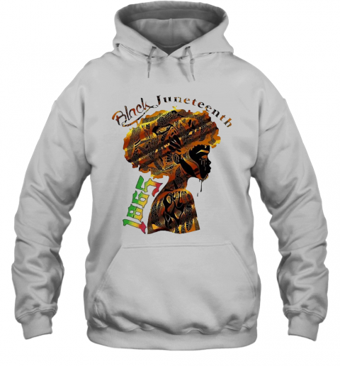 Girl Black Juneteenth Since 1865 T-Shirt Unisex Hoodie