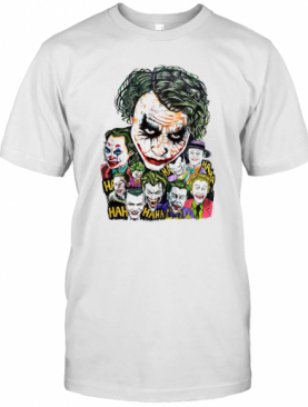 Halloween Joker Characters Art T-Shirt