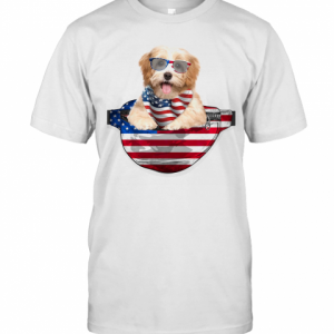 Havanese Waist Pack American Flag Independence Day T-Shirt Classic Men's T-shirt