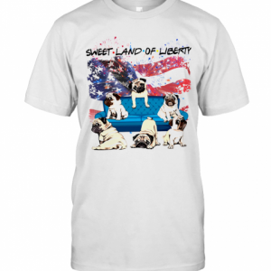 Independence Day 4Th Of July Pug Sweet Land Of Liberty T-Shirt Classic Men's T-shirt