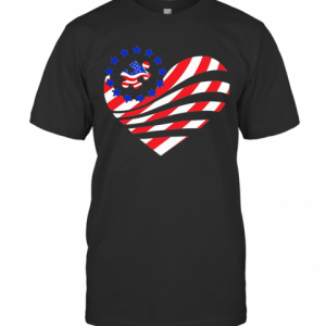 Independence Day Autism Heart T-Shirt Classic Men's T-shirt