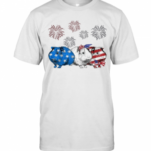 Independence Day Mouses Wear Bow Tie Firework T-Shirt Classic Men's T-shirt