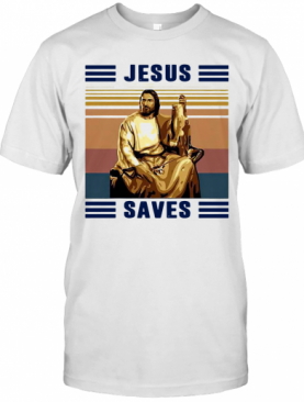 Jesus Saves Fishing Vintage T-Shirt