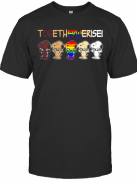 Lgbt Snoopy Together We Rise T-Shirt
