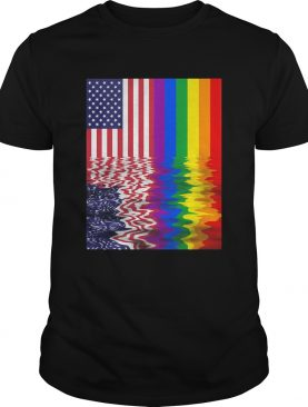 Lgbt american flag independence day shirt
