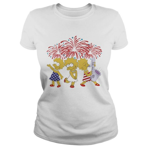 Lisa simpson firework american flag independence day  Classic Ladies