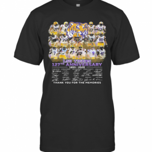 Lsu Tigers 127Th Anniversary 1893 2020 Thank You For The Memories Signatures T-Shirt Classic Men's T-shirt