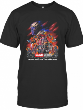 Marvel Super Heroes Thank You For The Memories Characters Signatures T-Shirt
