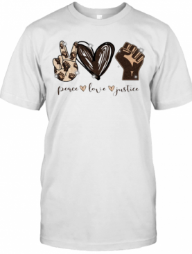 Peace Love Justice Black Lives Matter T-Shirt