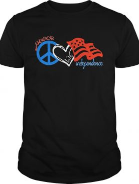 Peace love independence day american flag shirt