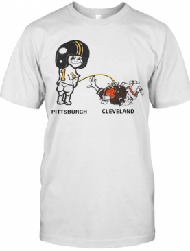 Piss On Pittsburgh Steelers Pee Cleveland Browns T-Shirt