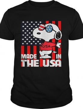 Snoopy made in the usa flag independence day shirt