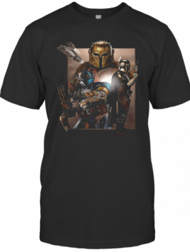 Star Wars The Mandalorian Characters T-Shirt