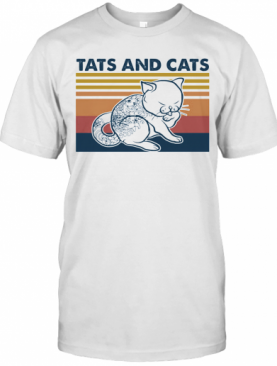 Tattoos And Cats Vintage Retro T-Shirt