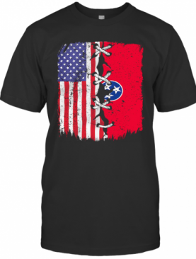 Tennessee And American Flag Independence Day T-Shirt