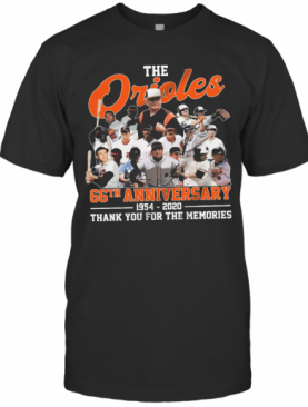 The Baltimore Orioles 66Th Anniversary 1954 2020 Thank You For The Memories T-Shirt