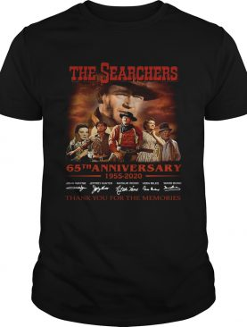 The Searchers 65th Anniversary 1955 2020 Signature Thank You For The Memories shirt