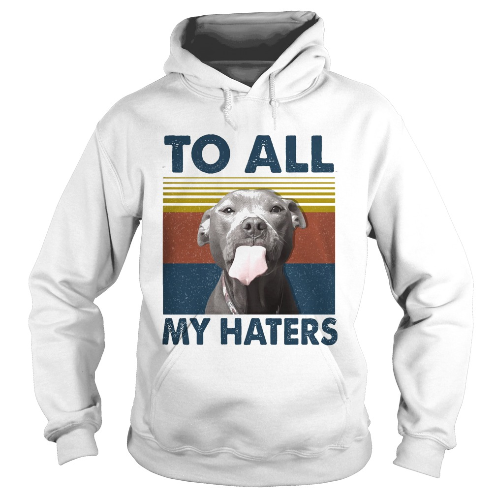 To all my haters Pitbull vintage retro Hoodie